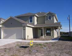 Gulf Coast Equities offers: Home is on a large corner lot with a pool size (Olympic) back yard.